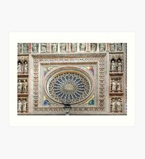 Orvieto - Dome - Rose Window Art Print
