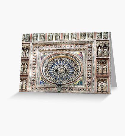 Orvieto - Dome - Rose Window Greeting Card
