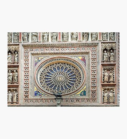 Orvieto - Dome - Rose Window Photographic Print