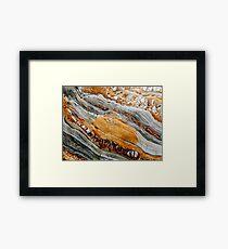 Geological waves Framed Print