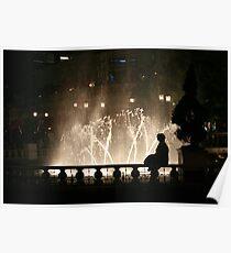 Floodlit Fountain Poster