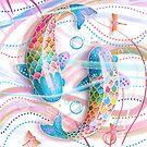 Rainbow Koi II by Karin Taylor