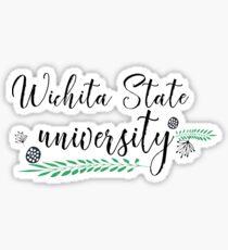 Universität und Hochschule | Doodle Stil 1 | P2 | Wichita State Universität Sticker