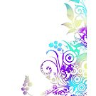 Decorative swirly design white by Anteia