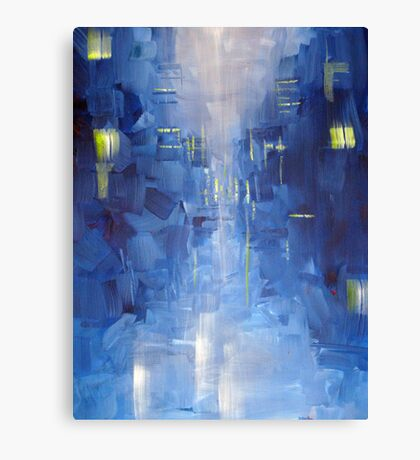 Cold City Abstract Skyline Canvas Print