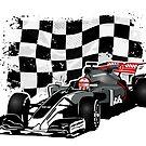 Formula 1 - Magnussen - Haas F1 Team - Racing Flag by Port-Stevens