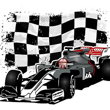Formula 1 - Magnussen - Haas F1 Team - Racing Flag by Port-Stevens