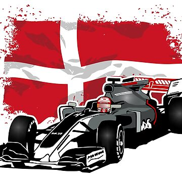 Formula 1 - Magnussen - Haas F1 Team - Denmark Flag  by Port-Stevens