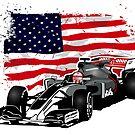 Formula 1 - Magnussen - Haas F1 Team - USA Flag by Port-Stevens