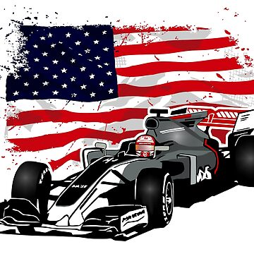 Formula 1 - Magnussen - Haas F1 Team - USA Flag by Port-Stevens