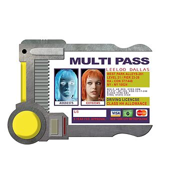 Multipass - Inspired by The Fifth Element by WonkyRobot