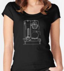 Half & half white Women's Fitted Scoop T-Shirt