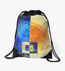 The night and day as yin and yang Drawstring Bag