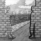 275 - IF ONLY THESE BRICKS COULD TALK - INK - DAVE EDWARDS - 2018 by BLYTHART