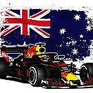 Formula 1 - Ricciardo - Australian Flag by Port-Stevens