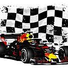 Formula 1 - Ricciardo - Racing Flag by Port-Stevens