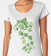 Golden Pathos - [Indoor Plant Love] Premium Scoop T-Shirt