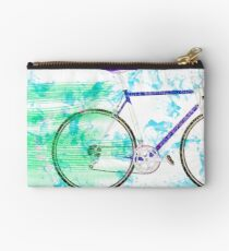Digitally enhanced image of a sports bicycle  Zipper Pouch