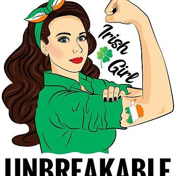 Irish Flag Girl Unbreakable Ireland by ZNOVANNA