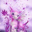 Cuddle me dragon in pink by Andrea Tiettje