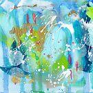Call of the Ocean Abstract by Niki Jackson by Niki Jackson