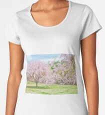 cherry blossoms blooming in a fantastic garden Women's Premium T-Shirt