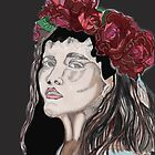 portrait of a women with flowers in her hair  by jackpoint23