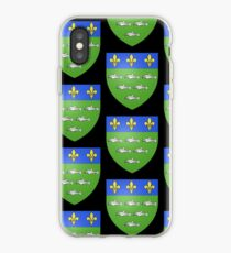 French France Coat of Arms 13595 Blason ville fr Loches Indre et Loire iPhone Case