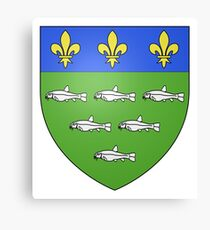 French France Coat of Arms 13595 Blason ville fr Loches Indre et Loire Canvas Print