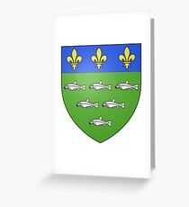 French France Coat of Arms 13595 Blason ville fr Loches Indre et Loire Greeting Card