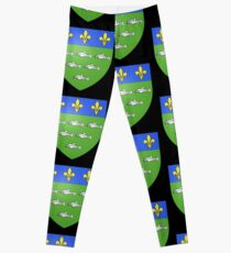 French France Coat of Arms 13595 Blason ville fr Loches Indre et Loire Leggings