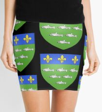 French France Coat of Arms 13595 Blason ville fr Loches Indre et Loire Mini Skirt