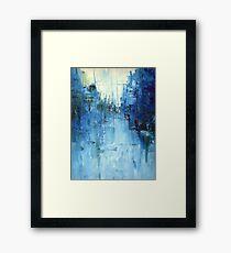 Lámina enmarcada Frío # 3 Paisaje urbano abstracto