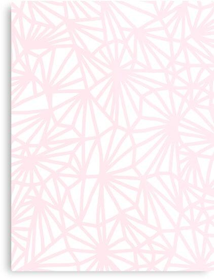 Handmade minimal geometric pattern - pastel pink by Dominiquevari