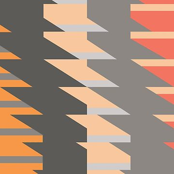 PYTHAGORAS 1 - Geometric design in bold, modern colours by anne-darling
