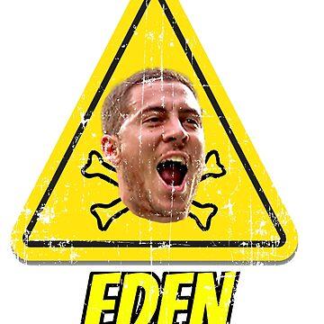 Eden Hazard Warning Sign by wrightboy62