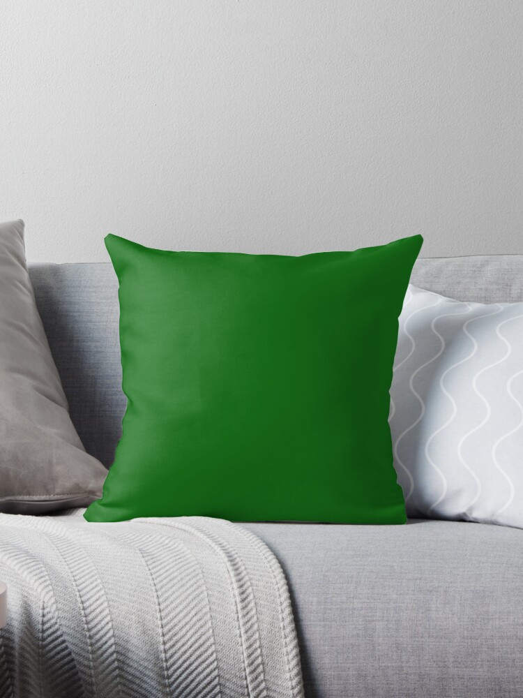 PLAIN SOLID COLOR - DEEP GREEN - FESTIVE CHRISTMAS COLORS ACCENTS AND HUES   by ozcushions