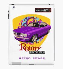 Mazda RX3 Retro Purple Power iPad Case/Skin
