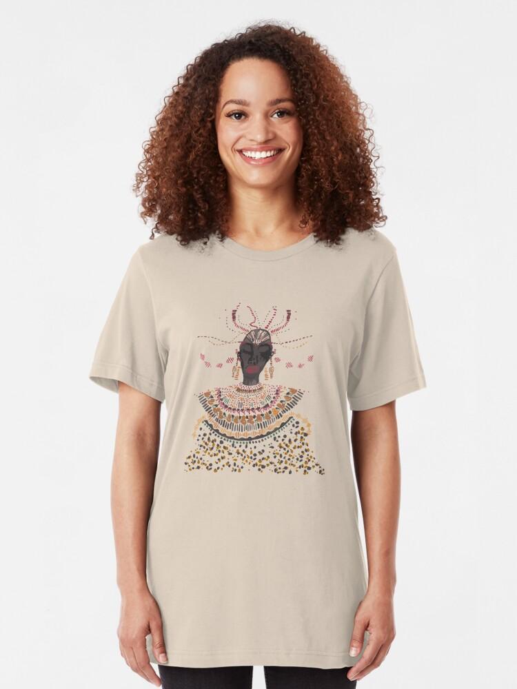 Alternative Ansicht von African Lady Slim Fit T-Shirt