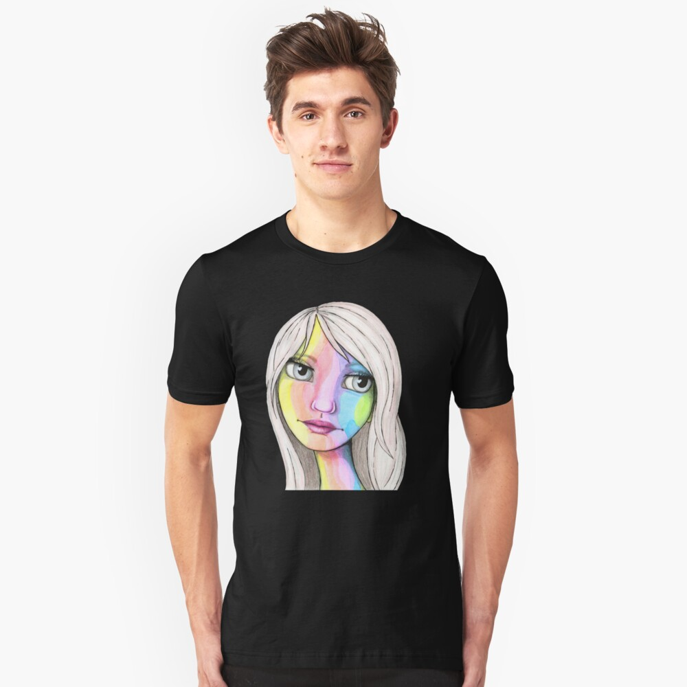 She Loves In Color Slim Fit T-Shirt
