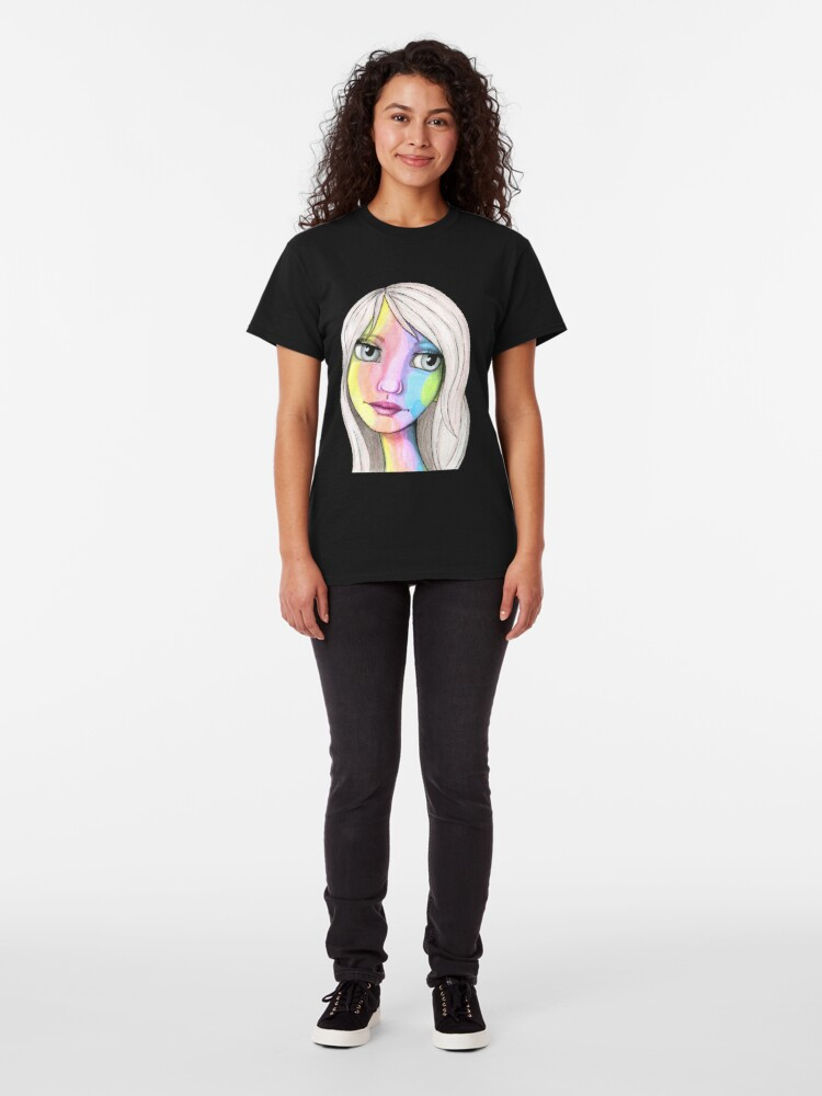 Alternate view of She Loves In Color Classic T-Shirt
