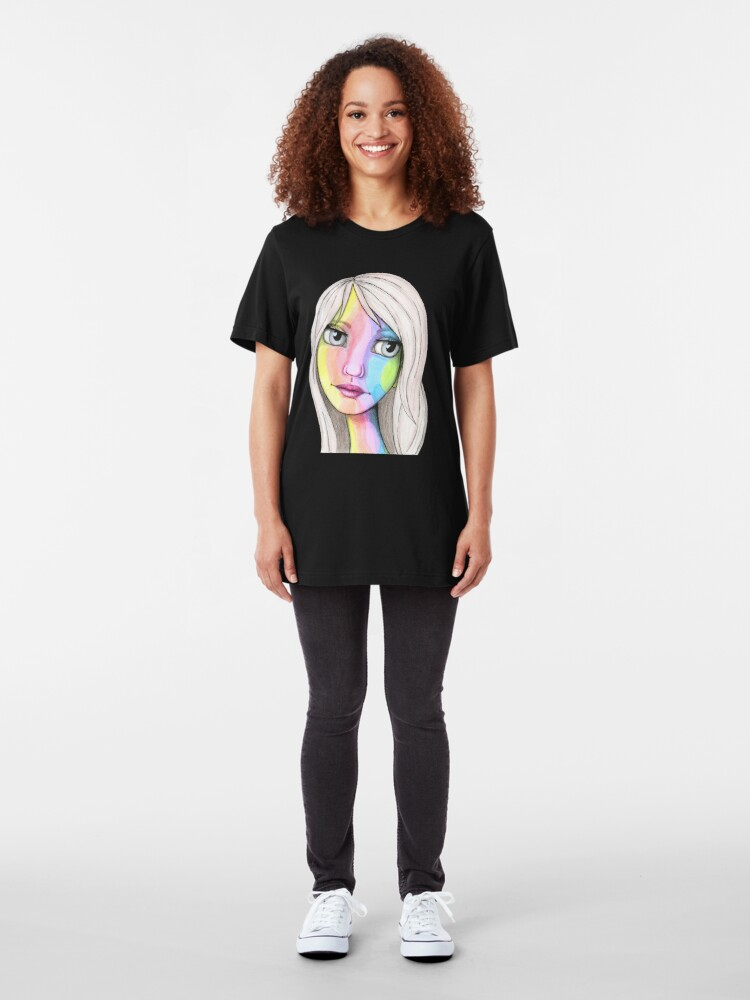 Alternate view of She Loves In Color Slim Fit T-Shirt