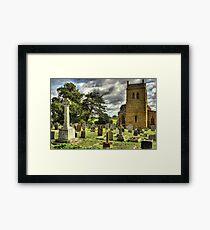 Harlestone Church And War Memorial Framed Print