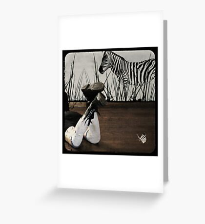 Double striped Greeting Card