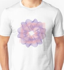 Pink and Purple Guilloche Pattern Unisex T-Shirt