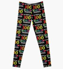 My Students Are 100 Days Smarter Funny Teacher - 100 Days Of School Gift Leggings