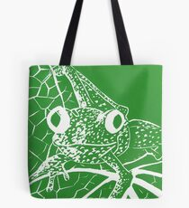 Little Green Tree Frog Tote Bag