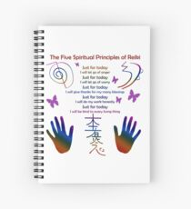 The 5 Principles of Reiki Spiral Notebook