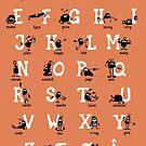 Alfabet - Orange by addsoul