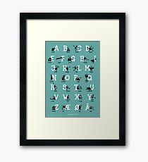 Alfabet - Turkis Framed Print